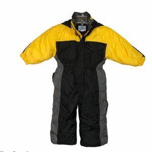 Windy Trail yellow black snowsuit